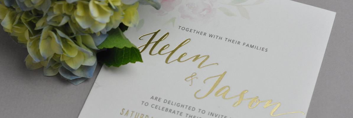 Gold Foil Wedding Invitations - Fast Print Services