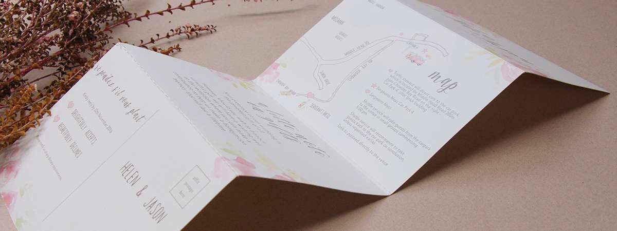 Folded Wedding Invitation