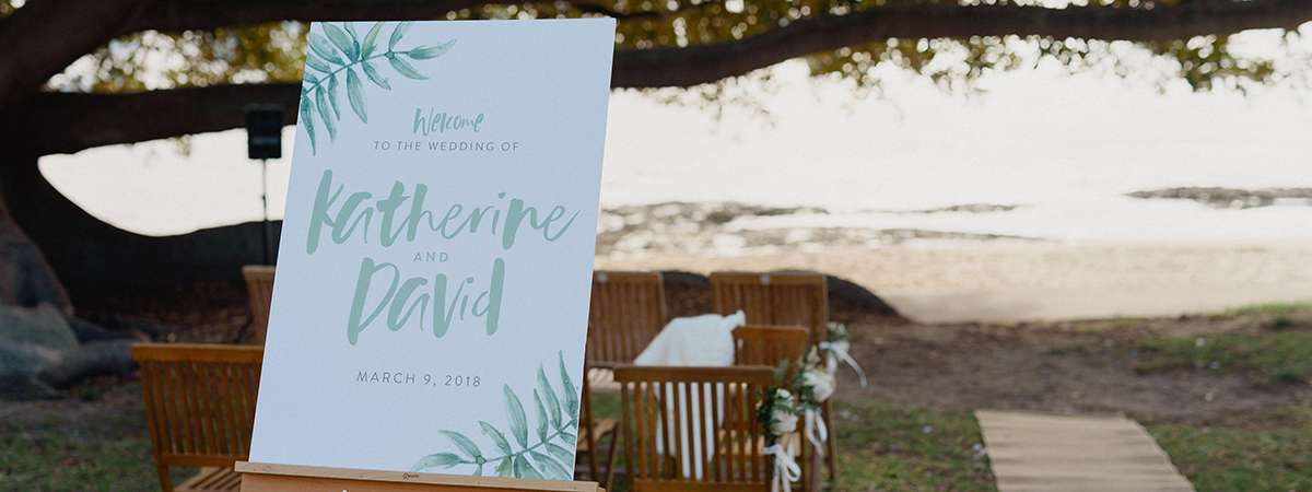 Wedding Signage - A1 Foamboard