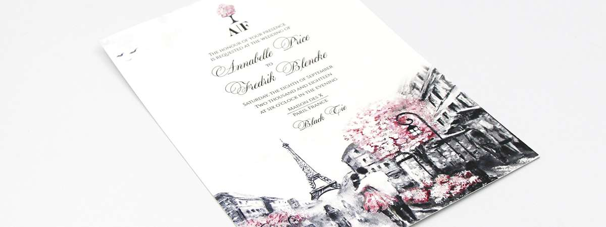 Digitally Printed Wedding Invite