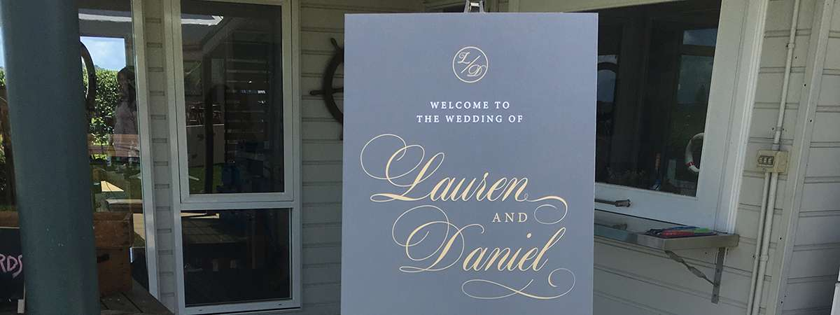 Wedding Printing - Welcome Sign