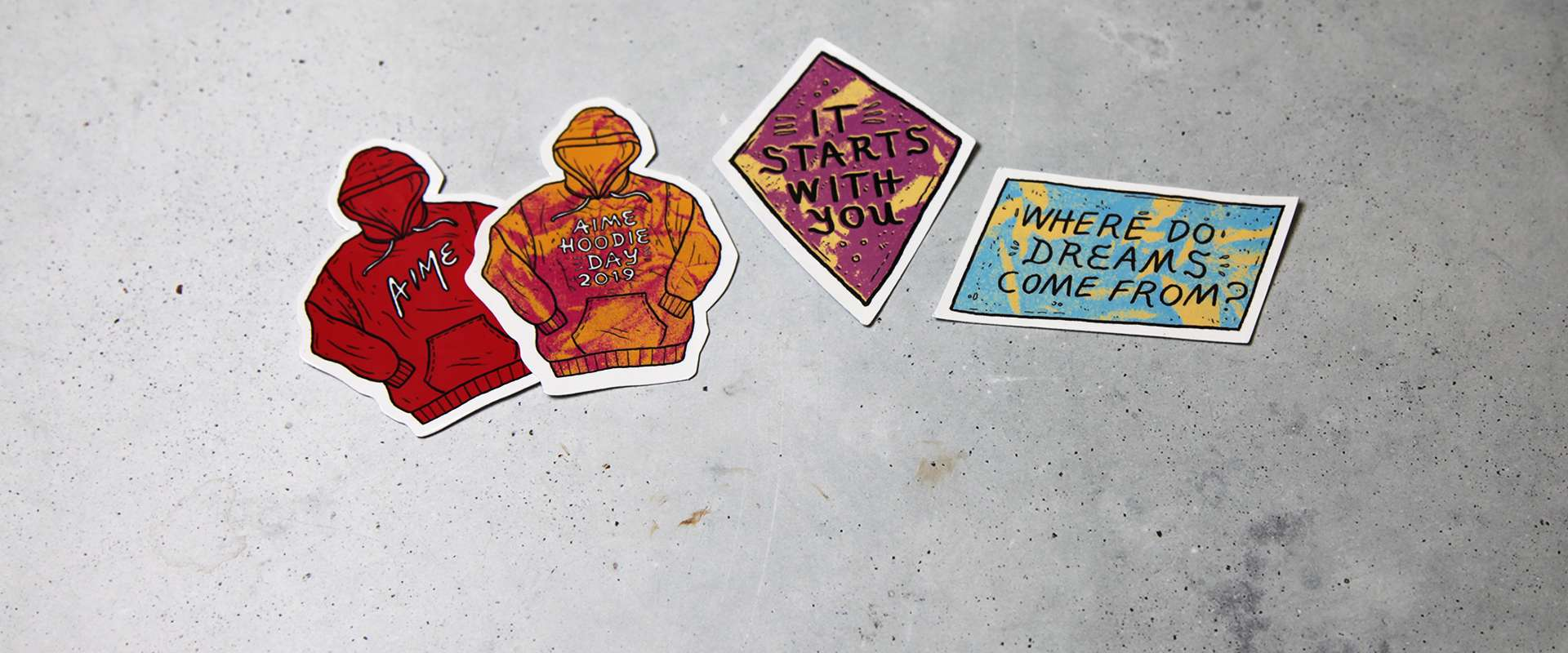 Individual die-cut stickers