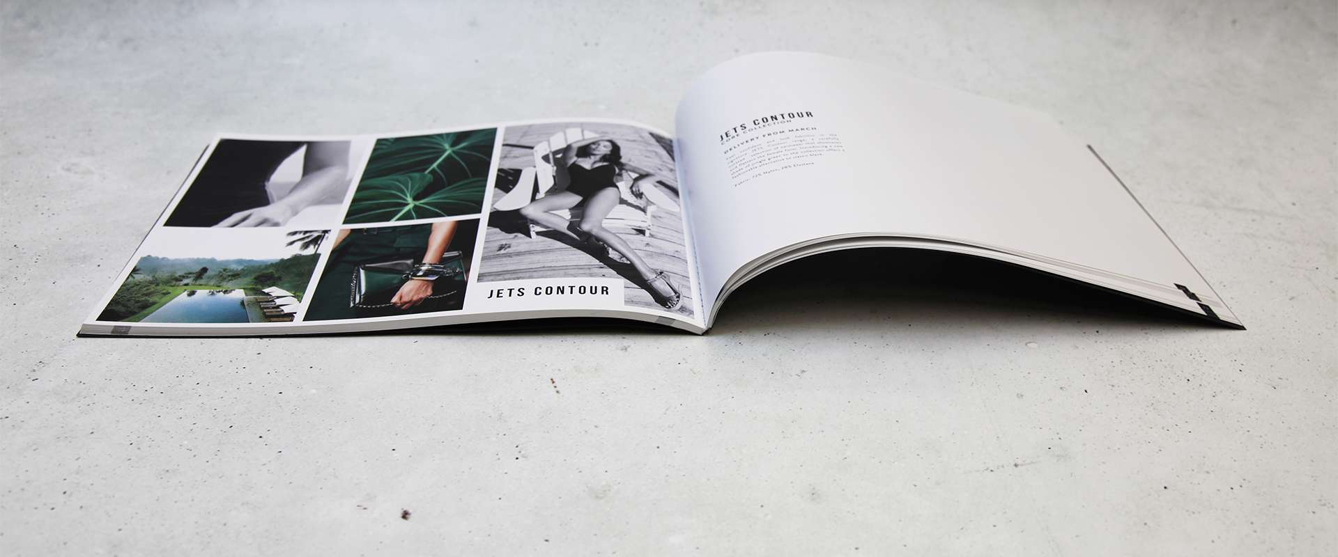 Jets / Perfect bound landscape A4 90pp booklet