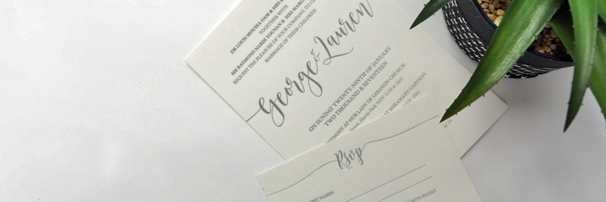 Wedding RSVP - Letterpress Printing