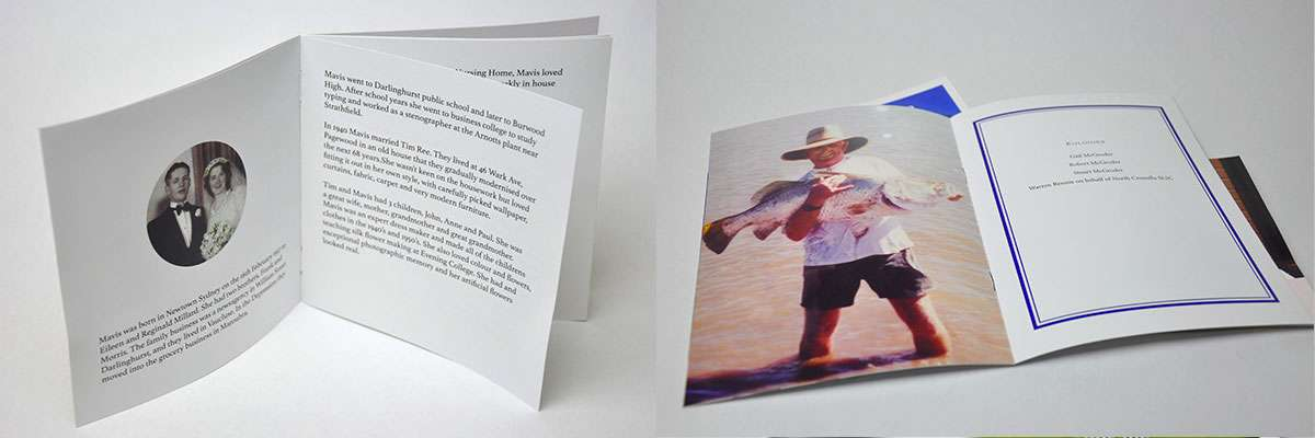 Funeral Stationery booklet printing