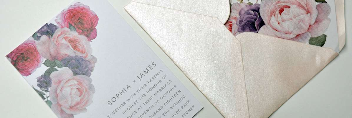 Printed Uncoated Linen with metallic Envelopes